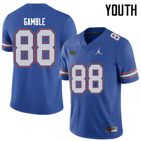 Jordan Brand Youth #88 Kemore Gamble Florida Gators College Football Jerseys Sale-Royal